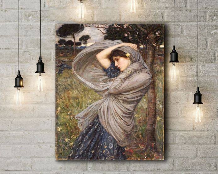 John William Waterhouse: Boreas. Fine Art Canvas.